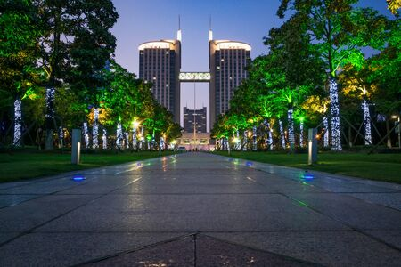 A park and the city Editorial