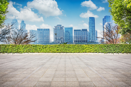 Business Office landscape at city Stock Photo