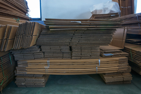 large group of business people: Cardboard boxes stored