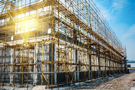 buildingsite: large building-site Stock Photo