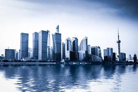 Shanghai skyline in sunny day, China