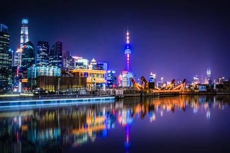 Shanghai at night, China