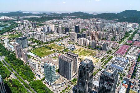 a bird's eye view of shanghai Standard-Bild