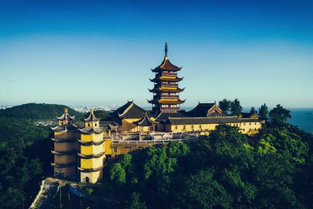 中国・南京のジミング寺院。