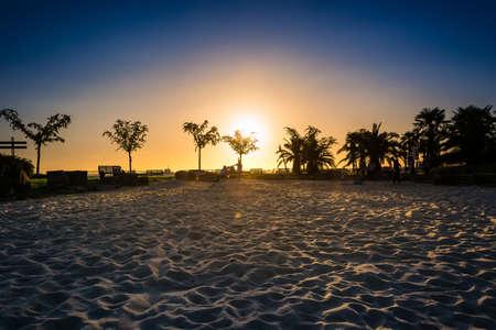 sunset scenery at Sri Lanka beach.