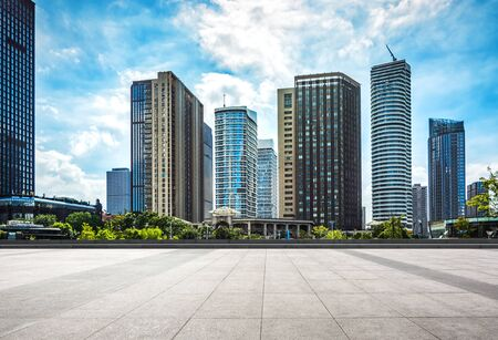 photography of the city and the buildings Stock Photo