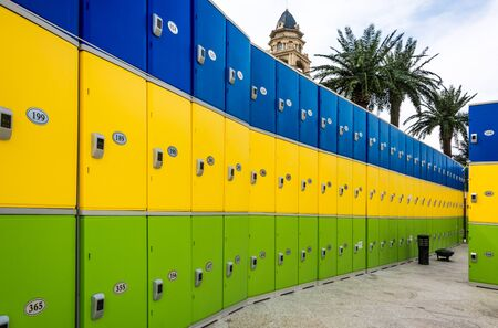 colorful cabinet lockers