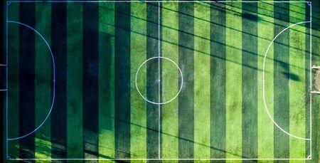 Green Football  field Standard-Bild