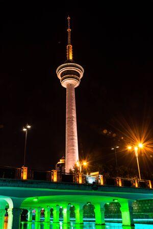 SHANGHAI, CHINA - MAY 04, 2016: Shanghai Oriental Pearl TV tower at night