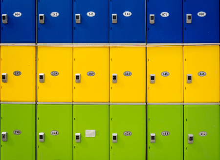 Neat and organized by the colors of the filing cabinet.
