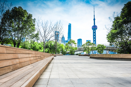 park in lujiazui financial center, Shanghai, China Editorial