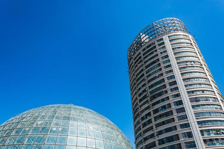 high rise buildings in the city Stock Photo