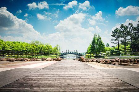 The park scenery