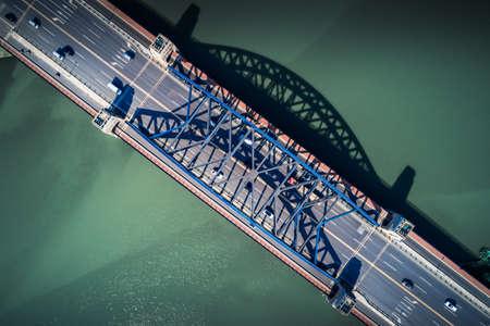 View over top of bridge