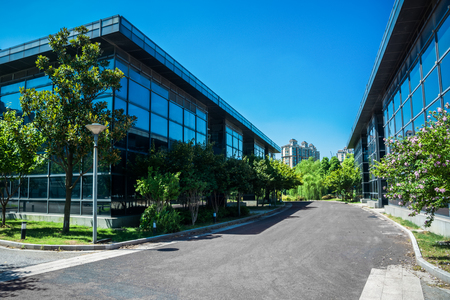 Exterior Of A Modern Small Office Building