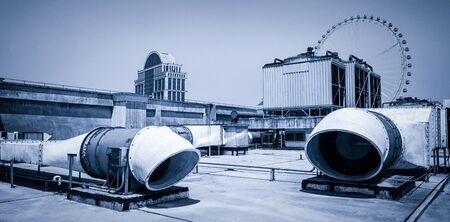 tuyau de fumée dans l'usine de l'industrie Banque d'images