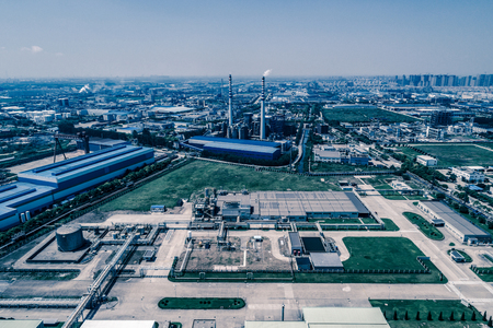 Oil Industry Refinery factory , Petroleum, petrochemical plant Stock Photo