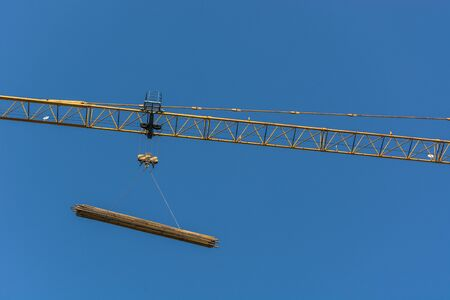 Hanging tower used in construction