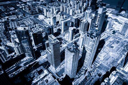 Suzhou city skyline taken from Brooklyn bridge 写真素材