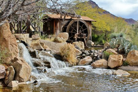 old west: Old West Water Mill