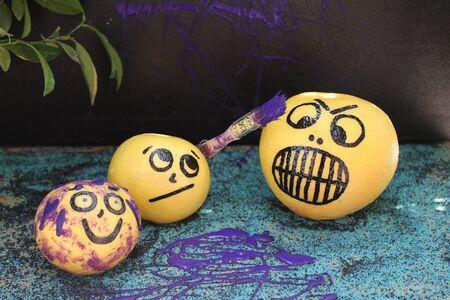 Mischievous Purple Paintinted Grapefruit