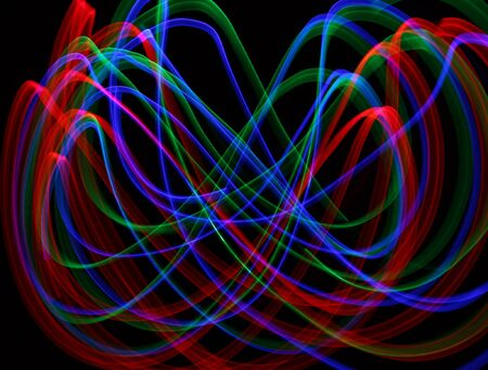 light painting: Rolling Waves of Light Painting Stock Photo