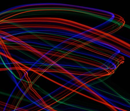 light painting: Swirling Background created with Light Painting Stock Photo