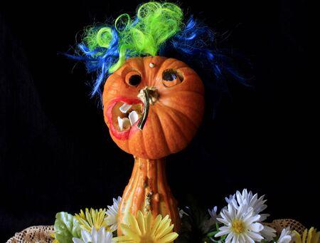 vegtables: Funny Faced Pumpkin Mugshot