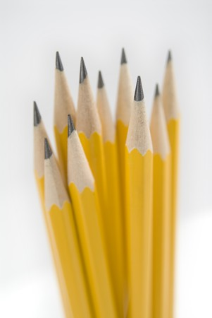 verticals: Grouping of sharpened wood-case pencils.