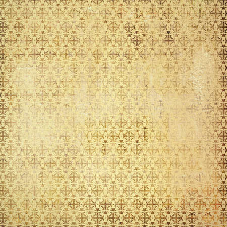 Old paper background with baroque pattern