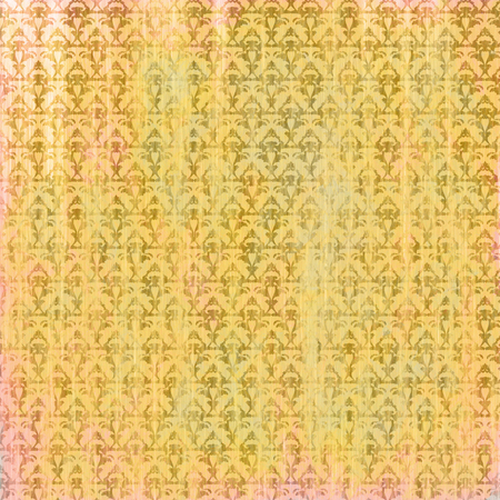 Shabby golden background with baroque pattern Imagens