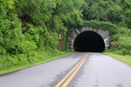 blue ridge: Tunnel entrance on the Blue Ridge Parkway in North Carolina