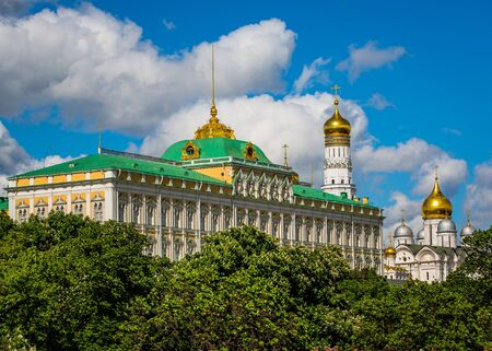 The Kremlin Palace and Cathedral of the Annunciation in Moscow, Russia.