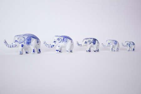 co operation: Family of Elephants Stock Photo