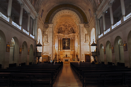 Interior of the Holy Rosary of Our Lady of Fatima, Portugal - pilgrimage destination Stock Photo