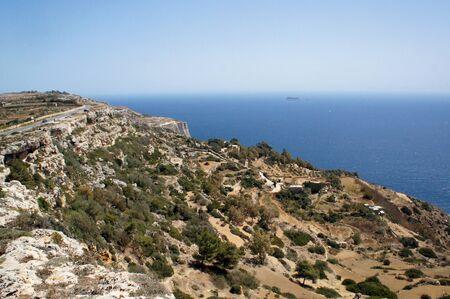 Panorama of Dingli Cliffs, Malta 免版税图像 - 127581991