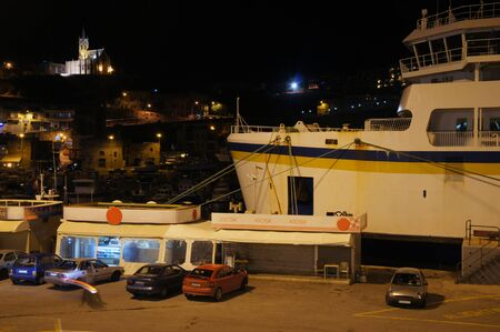 Ferry mooring in Mgarr Harbour (route between Cirkewwa, Malta and Mgarr, Gozo)