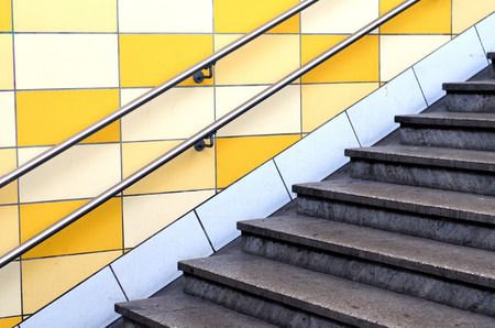 Stairs in a Berlin subway station