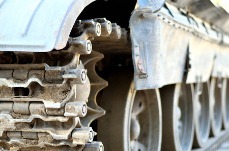 Tank chain of tank with wheels