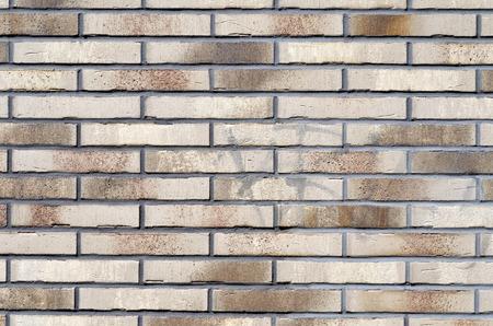 brick wall bricked with mortar