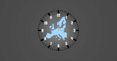 Symbolic clock for time change in Europe