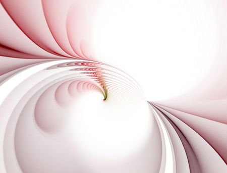 Beautiful spiked wave curls in soft red hues against a white backdrop in this fractal abstract. Stock Photo - 980889