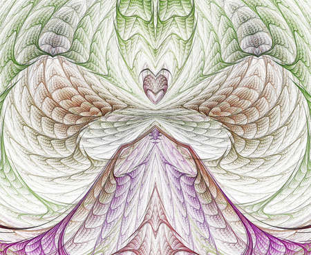 Woven, intricate coloring forms this delicate fractal manipulation.