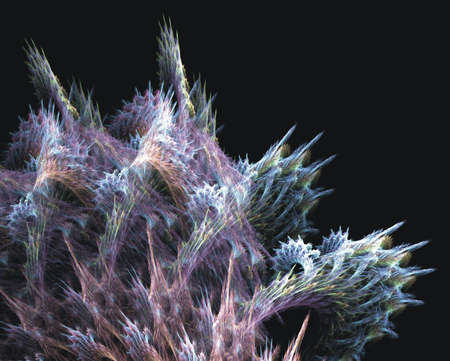 Pastel colors and woven into a spike texture mesh, creating a coral effect in this fractal abstract. photo