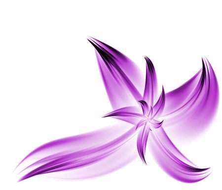 Purple, Corner Flower Fractal