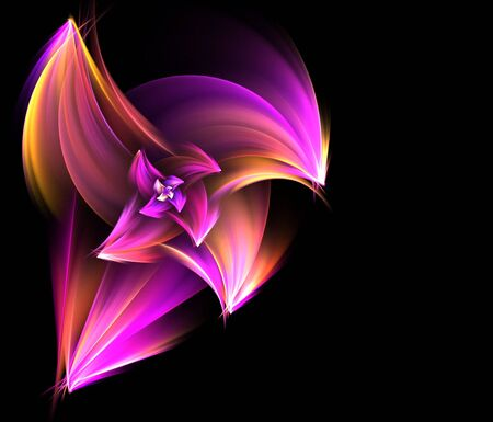 Beautiful flower blossom featuring wide flower petals.  Full of light and color making for a eye catching fractal abstract. photo