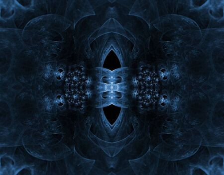 Stunning, deep hues of blue, pop out with softly embossed texture in this fractal manipulation. Stock Photo