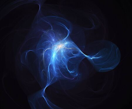 hues: Hues of glowing blue merge together in this smooth fractal render.