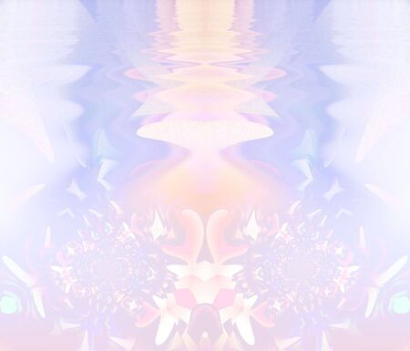 ripple effect: Beautiful light pastels, blend and blur together with a gentle water ripple effect in this fractal manipulation. Stock Photo