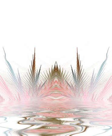 ripple effect: Beautiful softly colored feather textures are accentuated by a water ripple effect.